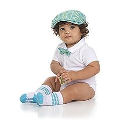 juDanzy baby boys gift box cabbie hat set (0-3 Months, Safari Plaid)