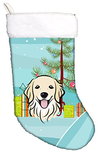 Christmas Tree and Golden Retriever Christmas Stocking BB1577CS
