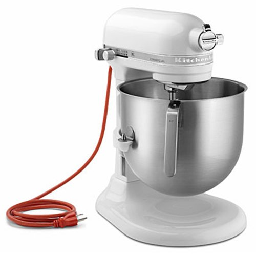 Kitchenaid White 1.3 Hp 8 Qt. Commercial Mixer With S/S Bowl