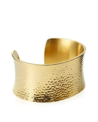 Chloe by Liv Oliver 18K Gold Plated Hammered Cuff Bangle