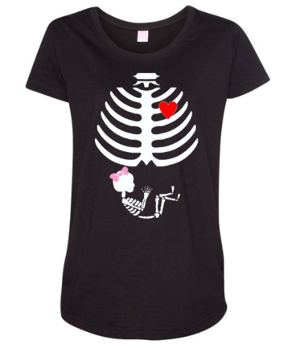 Baby Girl Skeleton Pregnancy Love Halloween Costume Women's Maternity T-Shirt
