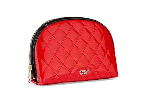 victorias-secret-cosmetic-bag-makeup-bag-quilt-faux-leather-red