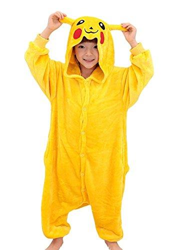 JT-Amigo Kids Unisex Kigurumi Pajamas Onesie Costume, Pikachu, 9-11 Years (Manufactory Size 125/XXL)