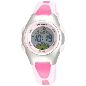 Fashion Waterproof Children Boys Girls Digital Sport Watch with Alarm, Chronograph, Date (Pink)