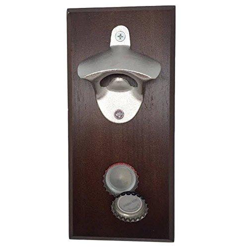 YaeKoo Magnetic Bottle Opener - Cap Catcher, Wall-Mounted, Refrigerator Magnet (Fridge Bottle Opener compare prices)