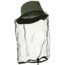 Olive Drab Boonie Outdoors Hat with Mosquito Netting L/XL
