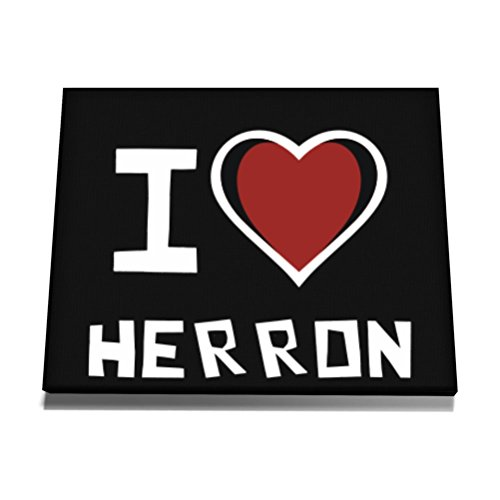 teeburon-i-love-herron-canvas-wall-art-12-x-8-zoll