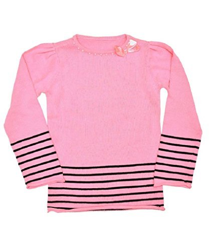 woolworths-abito-a-righe-maniche-lunghe-ragazza-pink-black-9-10-anni