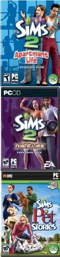 The Sims 2 pack: Nightlife + Apartment Life + Pet Stories