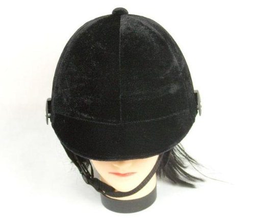 Slice the wind! Horse riding Jockey helmet lightweight safety suede-style adult for one size fits all adjustable