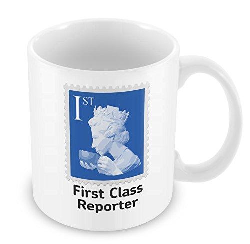 """First Class Reporter-Tazza, colore: blu """""""