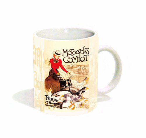 Theophile Steinlen Motocycles Comiot Paris Vintage Advertising Art Ceramic Gift Coffee (Tea, Cocoa) 11 Oz. Mug
