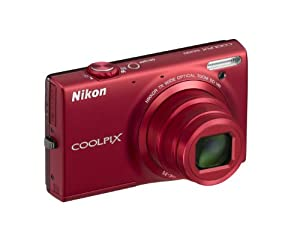 Nikon Coolpix S6150 Compact Camera ( 16 MP,7 x Optical Zoom,3 -inch LCD ) red