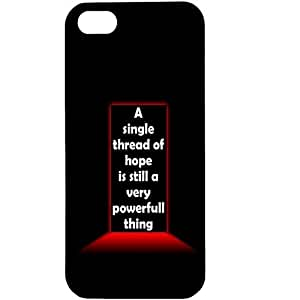 Casotec Motivational Quote Design Hard Back Case Cover for Apple iPhone 5 / 5S
