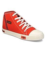 Yepme Men's Red Canvas Canvas Shoes - B00WQST7EY