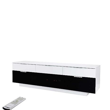 TV Unterschrank in Schwarz Weiß 180 cm Pharao24