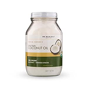 Dr. Mercola Organic Extra Virgin Coconut Oil - 100% Organic - Cold Pressed - 32oz