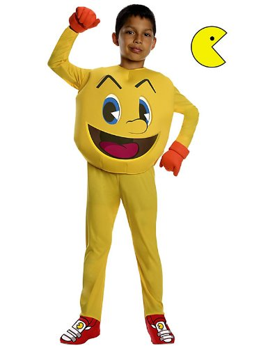 Kids Childs Deluxe Pac-Man Costume in three sizes