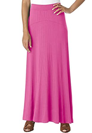 Jessica London Women's Plus Size Maxi Skirt In Stretch Jersey Tropical