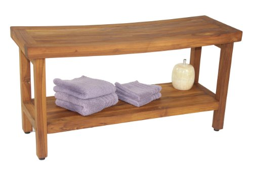 The original sumba 36 teak shower bench with shelf for Garden pool osrs