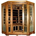 Canadian Red Cedar FIR Infrared Carbon Fiber Corner Sauna, Four 4 Person