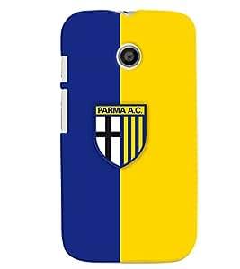 TOUCHNER (TN) Blue Yellow Logo Back Case Cover for Motorola Moto E XT1021::Motorola Moto E (1st Gen)