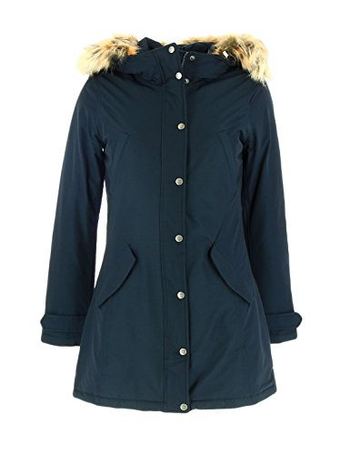 Giaccone Donna WOOLRICH WYCPS0418 CN02 Cotone nylon Penn parka Autunno Inverno 2016 Blu M