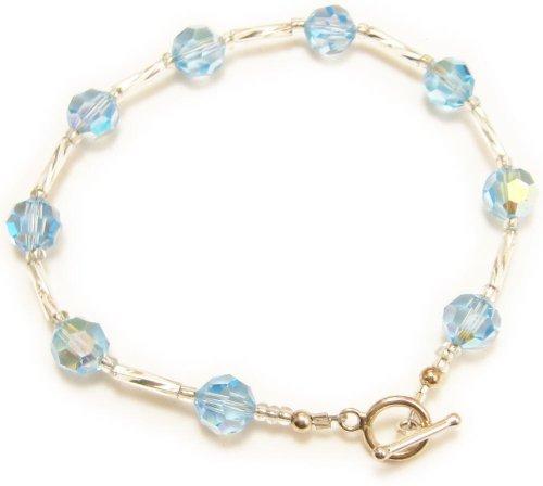 AM3089 Unique Light Blue Swarovski Crystal TM Bracelet by Dragonheart – 20cm