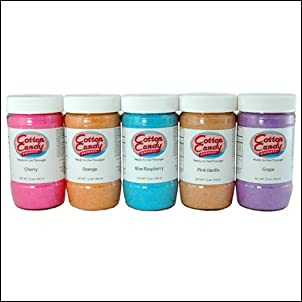 Cotton Candy Express - Cotton Candy Sugar - 5 Floss Sugar Flavor Pack - 12 Oz. Containers