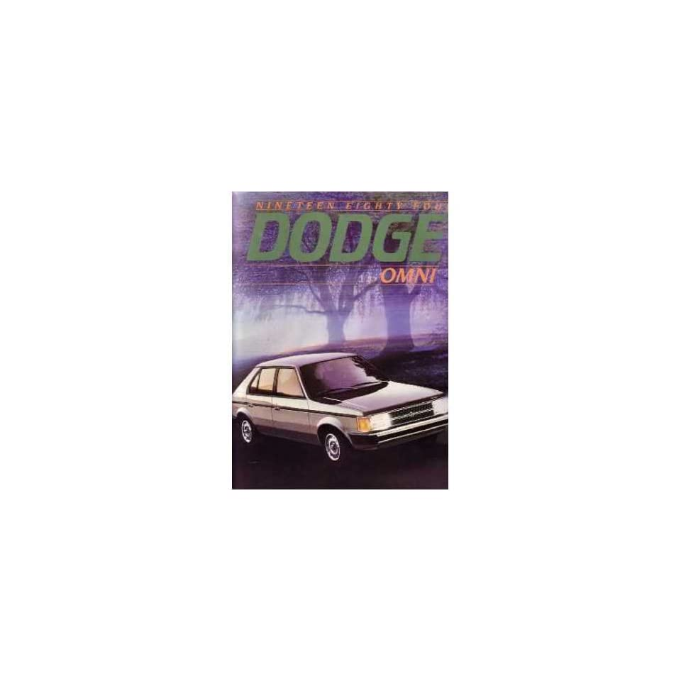 1984 DODGE OMNI Sales Brochure Literature Book Automotive