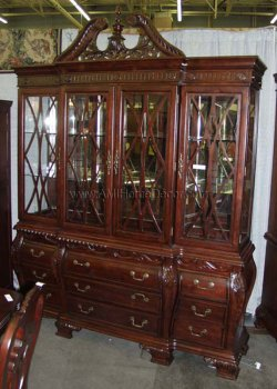 Buy Low Price Ami Queen Anne Chippendale China Cabinet