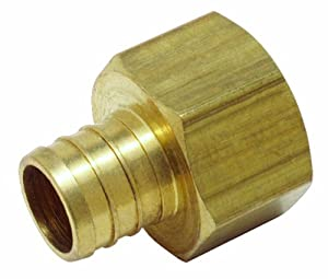 Watts PEX LFP-515 Female Adapter 1/2-Inch Barb x 1/2-Inch Fem Pipe Low-Lead, Brass