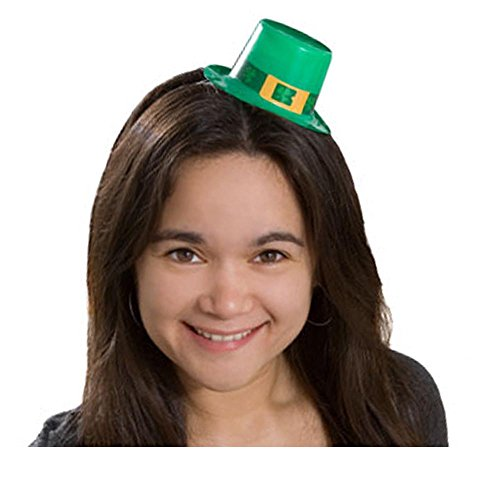 5 St Patricks Day Mini Hats with Elastic Bands