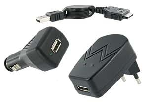 Just Mobile GRJMC31IPN Kit de chargement 3 en 1 pour iPod noir