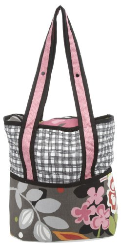 Hoohobbers Tote Diaper Bag, Sleek Slate