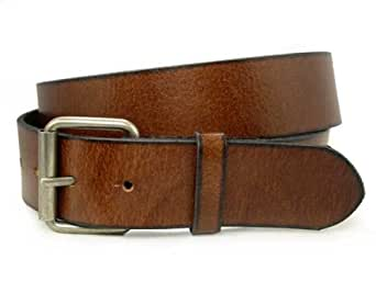 snap on tanned one ply genuine leather belt 1 5 quot wide