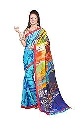 SSI Chiffon Saree (SSI JIN BLUE Chiffon_Blue Multi Colour)