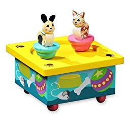 Twirlytunes Kitty and Puppy Music Jewelry Box by The San Francisco Music Box Company