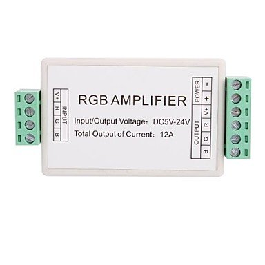 Zcl3 Channel Mini Rgb Led Amplifier Controller For Rgb Led Strip Light (Dc12V 12A 144W)
