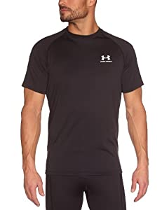 Under Armour Herren Shirt New EU Tech Short Sleeve Tee, Black/White, L, 1229078-001