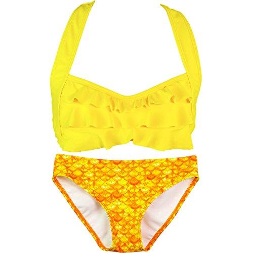 fin-fun-mermaid-girls-sea-wave-bikini-set-mermaiden-swimwear-girls-medium-tropical-sunrise-yellow