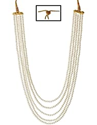 Bling N Beads Five Line White Pearl Necklace Perfect Gift For Her