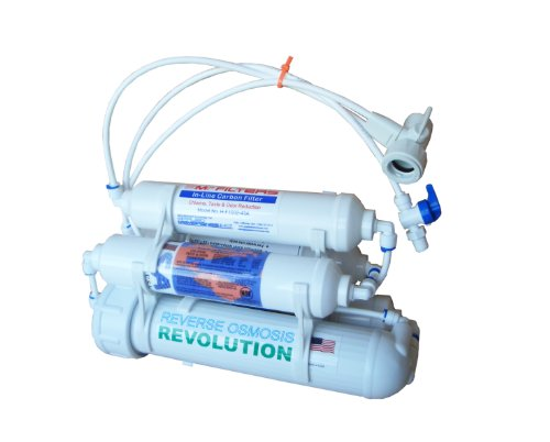 Portable Universal 5-stage Reverse Osmosis RO Purification Water System with DI Deionizing Mixed Bed 0PPM postfilter, made in USA (0ppm Reverse Osmosis compare prices)