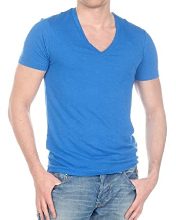 G-Star Raw Herren Optic Fit Basic T-Shirt Shirts V-Neck 8546 Größe S - XXL, blau