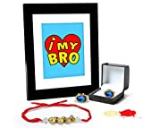 Tied Ribbons Gifts For Brother On Rakhi Combo (Finest Rakhi with Cufflinks and Photo Frame 27cm x 22cm )