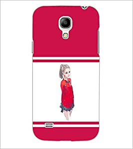 PrintDhaba Cute Girl D-1403 Back Case Cover for SAMSUNG GALAXY S4 MINI (Multi-Coloured)