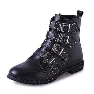 gnmb-mujer-tacon-bajo-botas-a-la-moda-botas-vestido-casual-semicuero-negro-black-us8-eu39-uk6-cn39