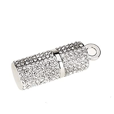 Imported 4 GB USB 2.0 Glitter Rhinestone Cylinder Flash Drive Flash Disk Pen Drive Memory