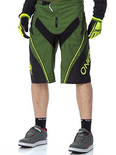 Pantaloni Corti Mtb Oneal 2017 Element Fr Blocker Nero-Verde (38 Vita = Eu 50 , Nero)