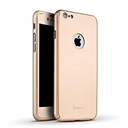 THERISE FBC0115 360 Full body Cover for Apple iPhone 5-Champagne Gold